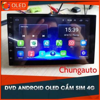 DVD Android OLED Cắm Sim 4G Lắp Cho Tất Cả Các Dòng Xe