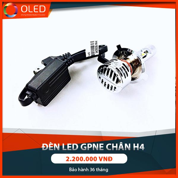 Độ đèn led GPNE tăng sáng chân H4 giúp lái xe an toàn hơn