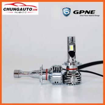 Độ đèn ô tô bóng LED GPNE H7 tăng sáng chân