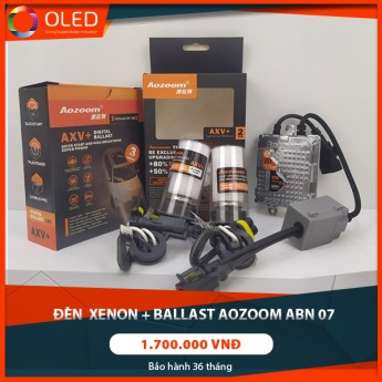 Đèn xenon + ballast Aozoom ABN07 chân bóng 9012 chính hãng