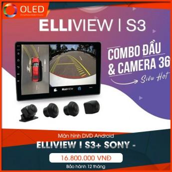 Màn hình liền camera 360 độ Elliview I S3+ SONY - Phụ kiện không thể bỏ qua cho xế cưng