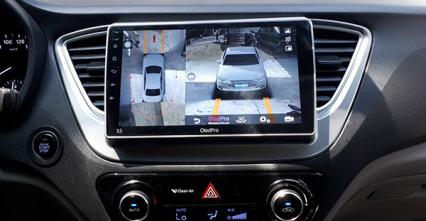 Độ camera 360 cho xe Huyndai Acent AT.