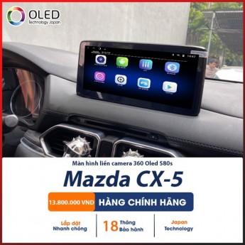 Màn hình liền camera 360 Oled S80s cho dòng xe Mazda CX-5, mang đến góc quan sát toàn cảnh, an toàn khi lái xe