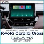 Màn hình liền camera 360 OledPro X6s cho Toyota Corolla Cross - Công nghệ màn hình hiện đại, sắc nét, chân thực X6s_0