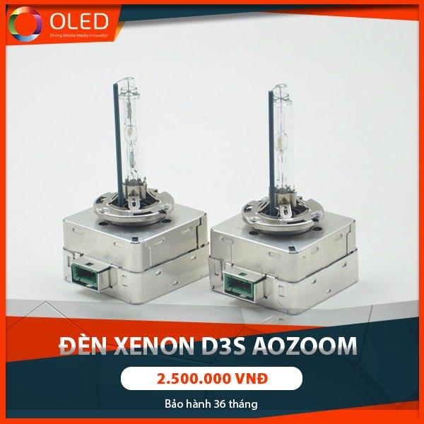 Không ngại lái trong đêm tối với bóng đèn xenon D3s Aozoom siêu sáng