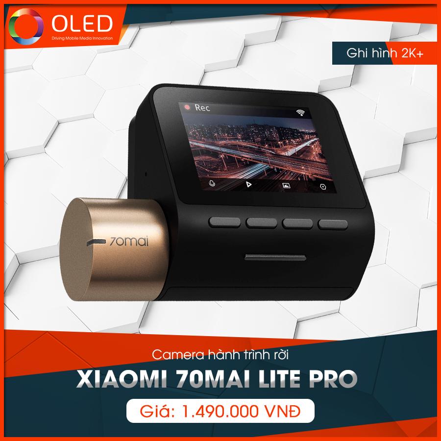 Lưu giữ mọi chuyến đi bằng camera hành trình rời Xiaomi 70mai lite Pro - Camera hành trình quốc dân